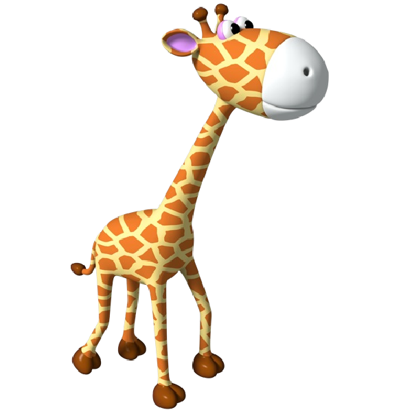 Giraffe clip art png. Simple outline cute clipart