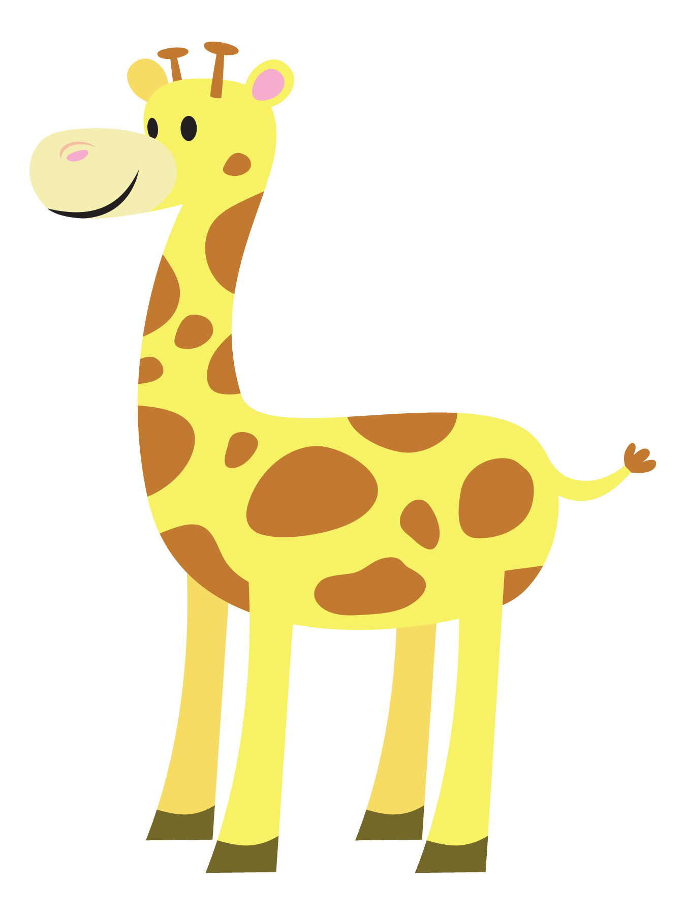 vector giraffe animated