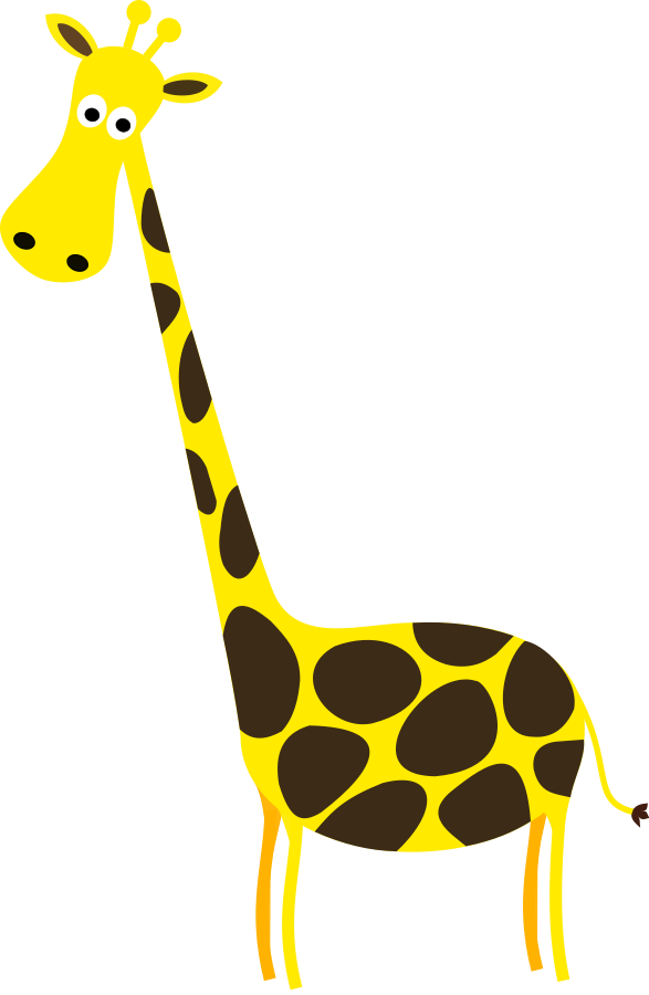 Vector giraffe circus. Free baby clipart download