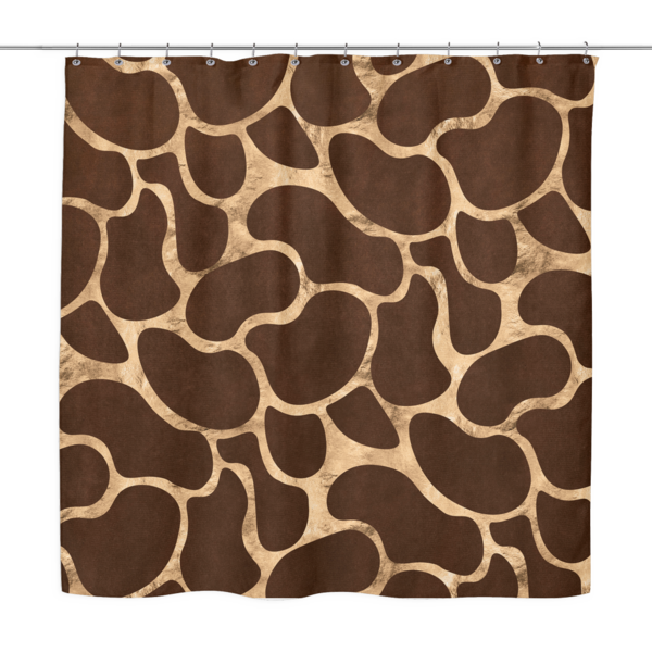 Giraffe print png. Shower curtain prohibition