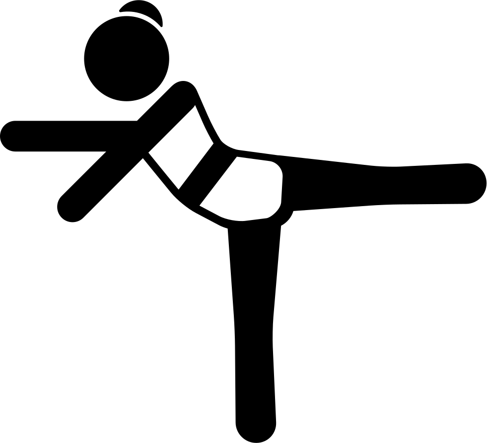 Stretching left leg and. Girl arms png picture black and white library