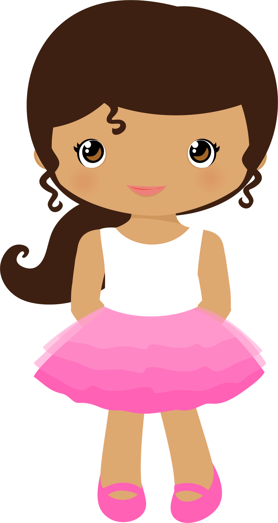 girl clipart mouse