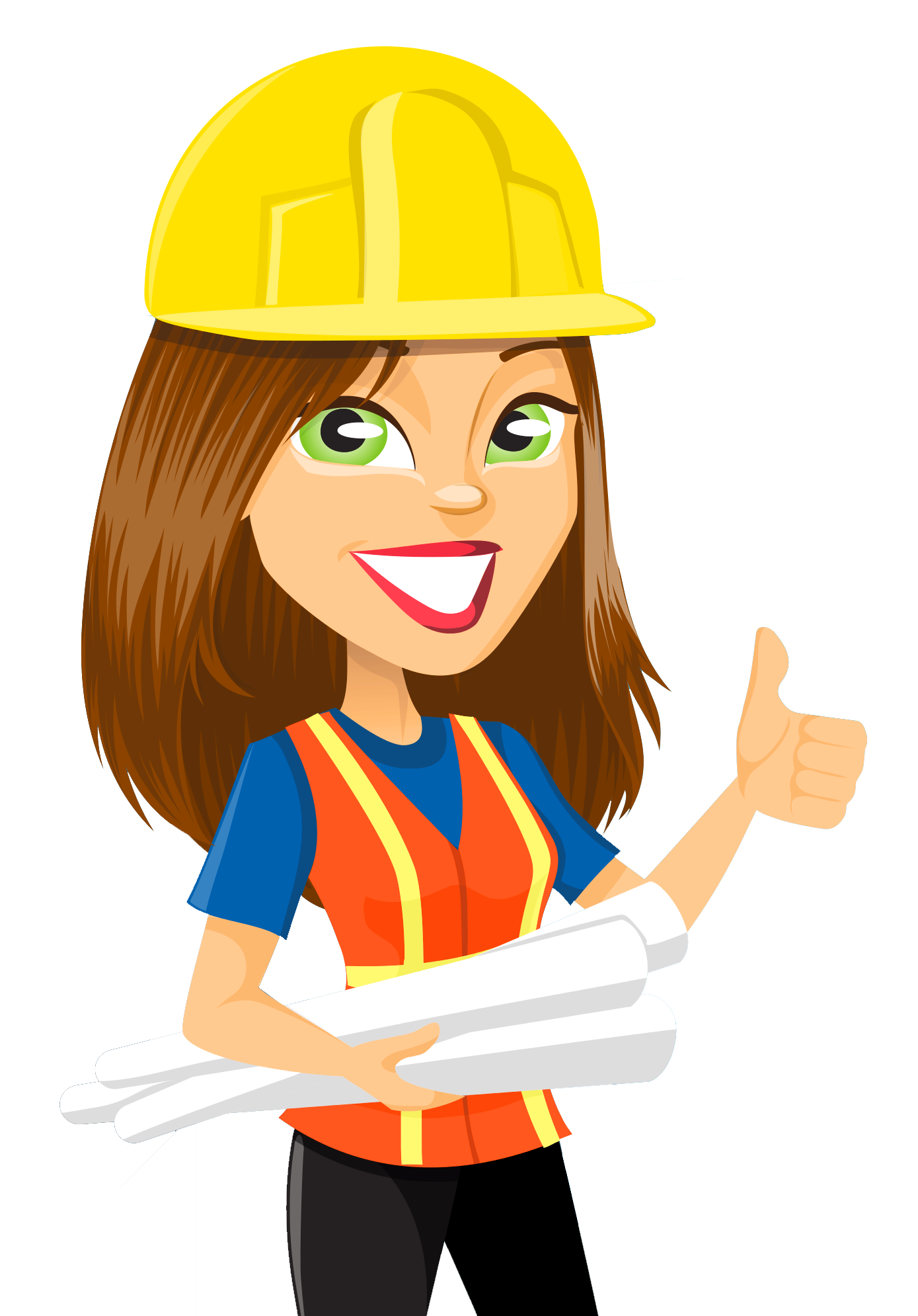 Girl clipart construction. Free on dumielauxepices net