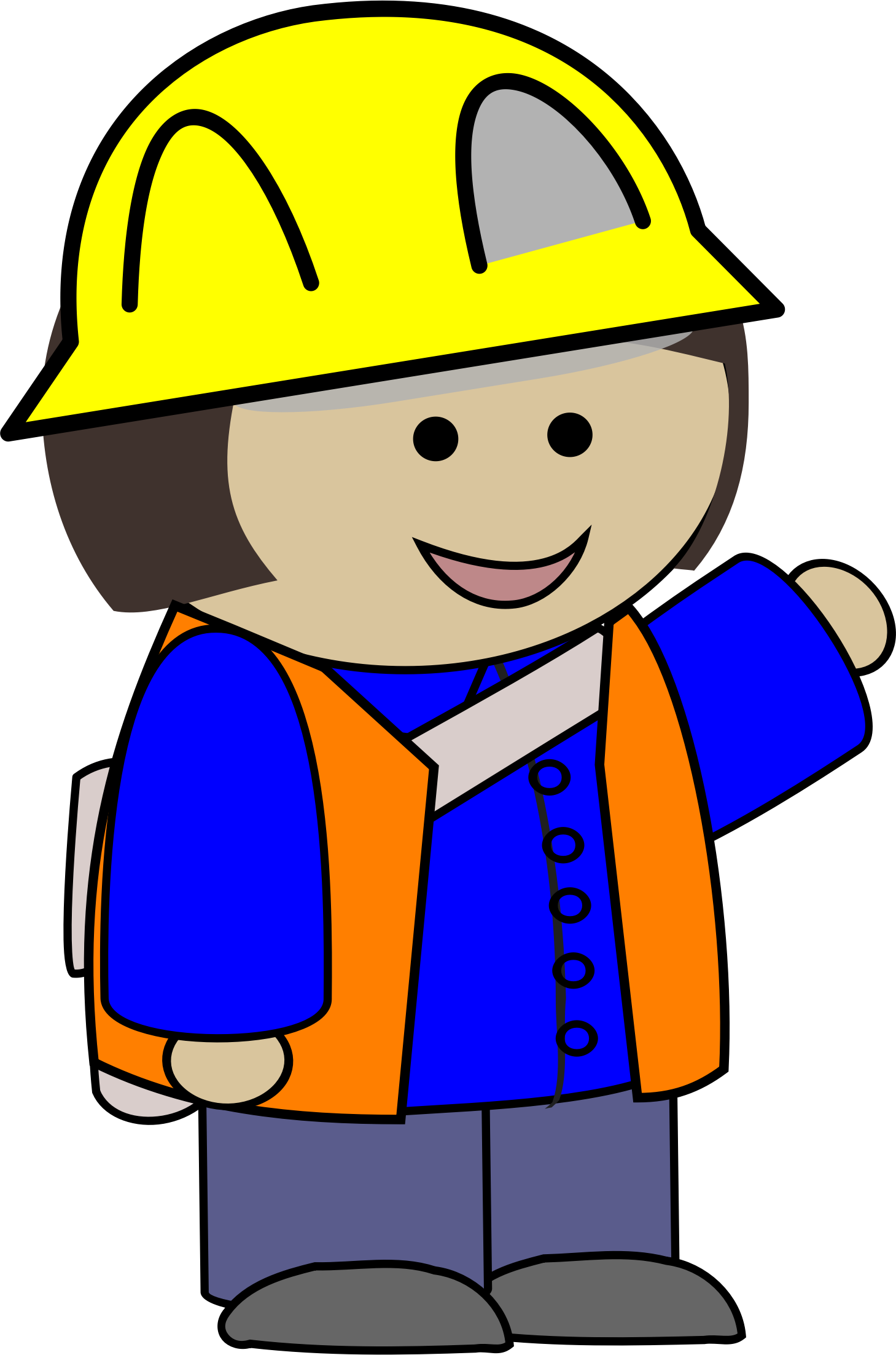 Girl clipart construction. Kid big image png