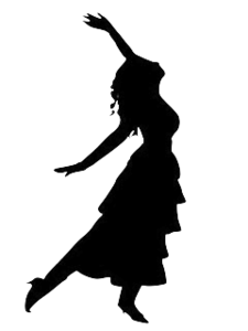 Girl clipart dancing. Silhouette free images at