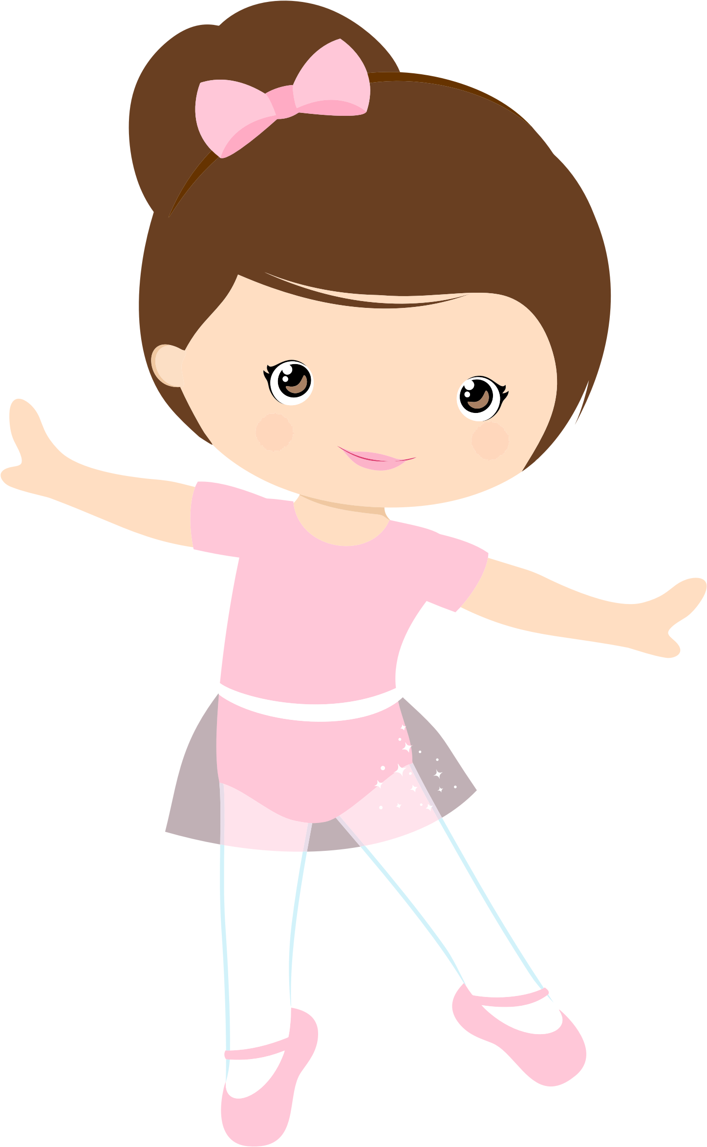 Girl clipart dancing. Little ballerina by gdj