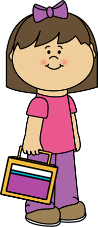 Lunch clipart lunch bag. Girl carrying school box