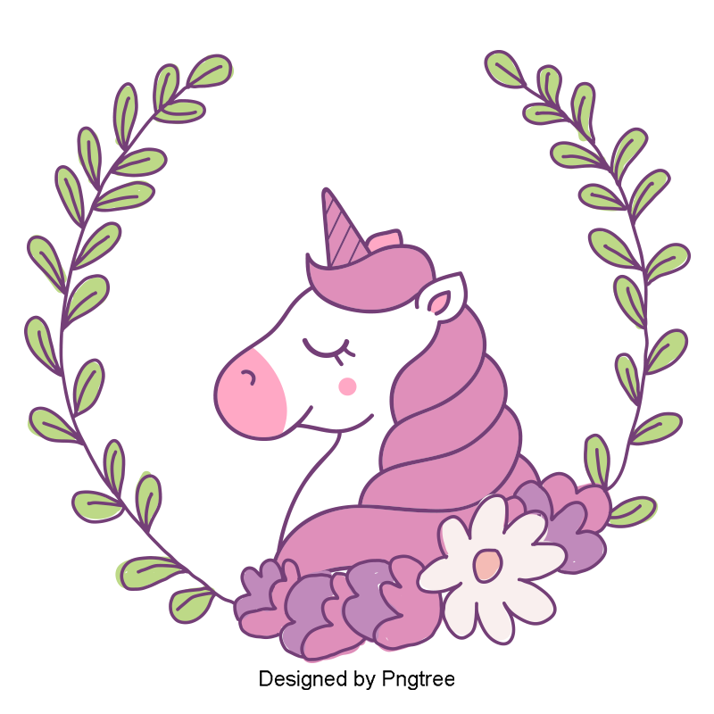 Images vectors and psd. Kawaii unicorn png clipart black and white stock