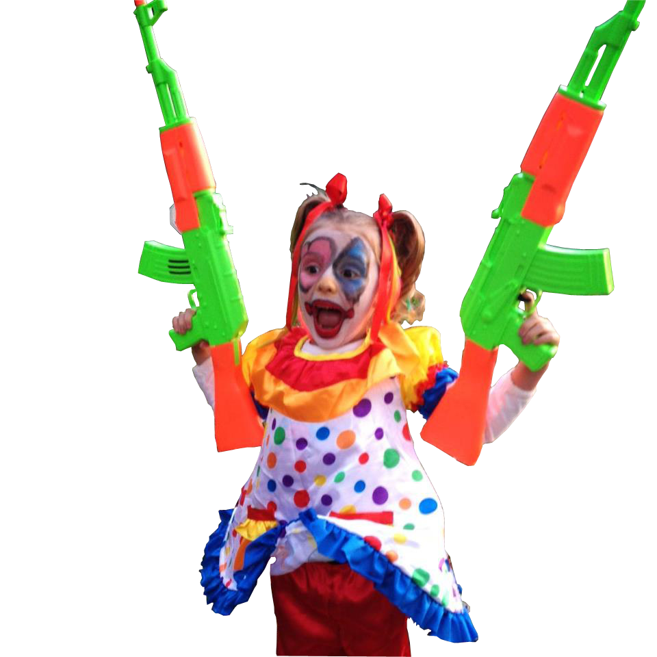 Girl clown png. Little dressed like a