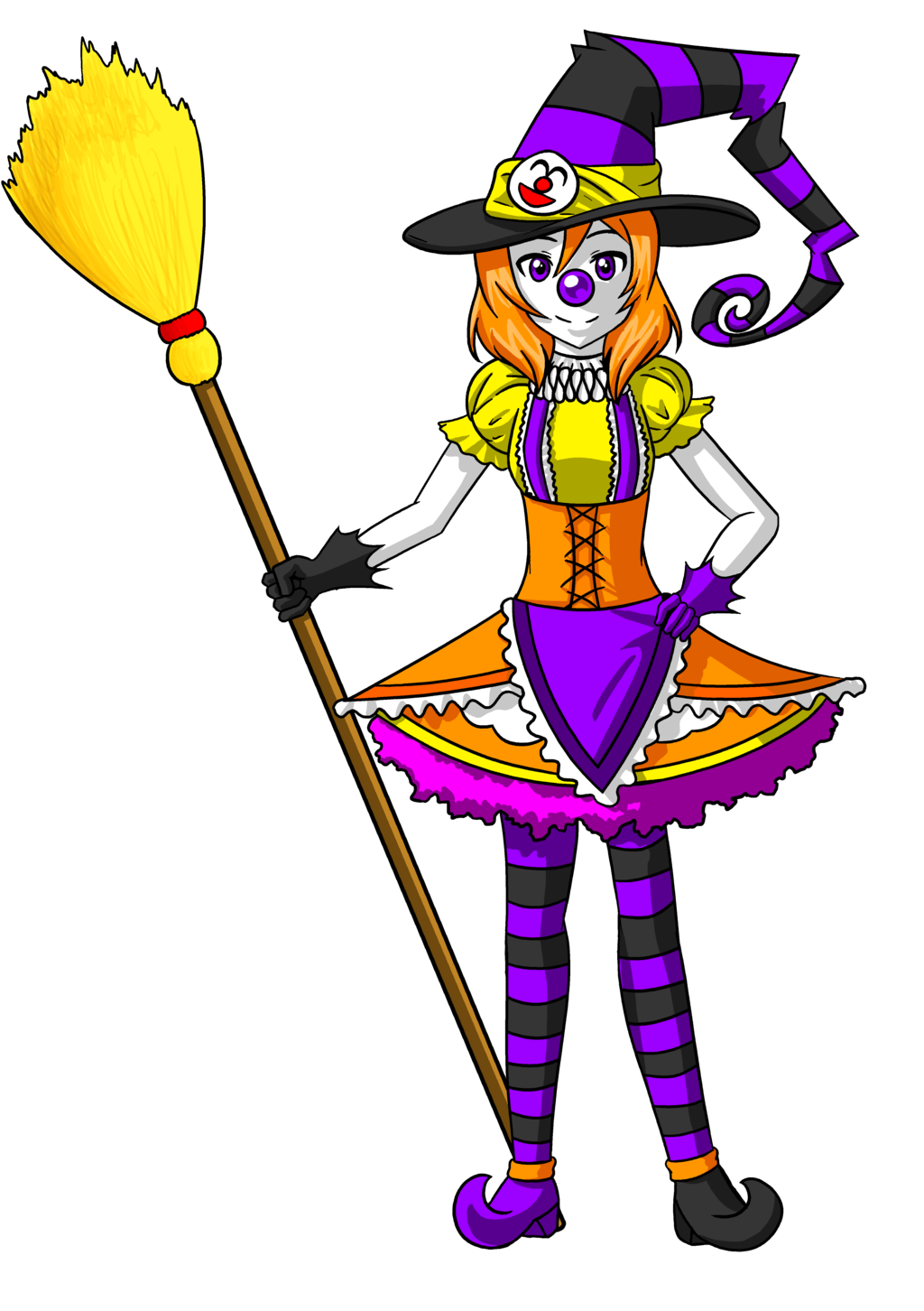 Girl clown png. Maki halloween witch by