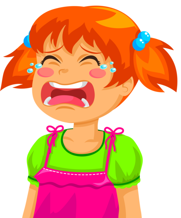 collection of clipart. Girl crying png vector transparent download