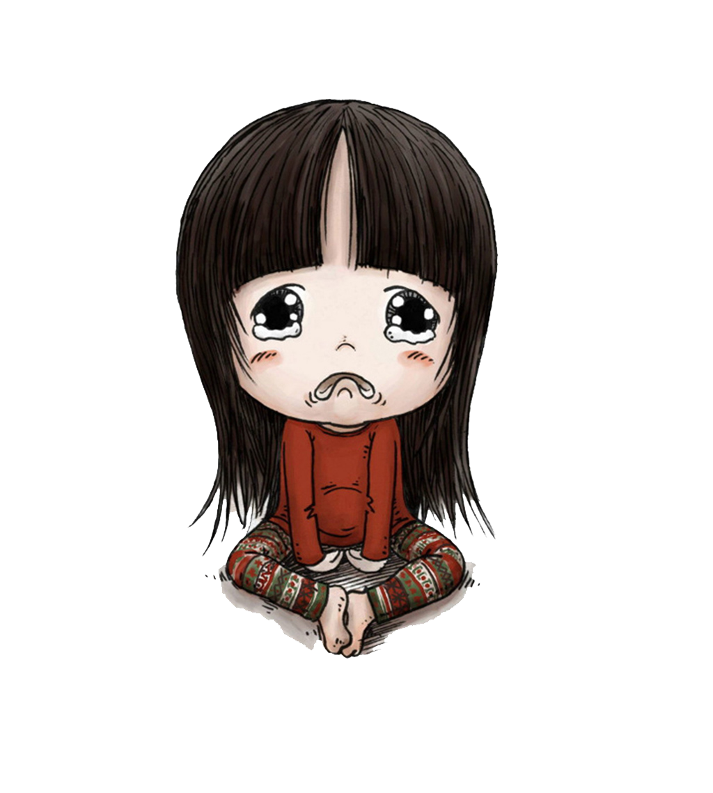 Cartoon drawing face baby. Girl crying png clip free