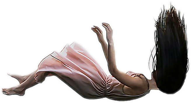 Girl falling png. Freetoedit woman dress hair