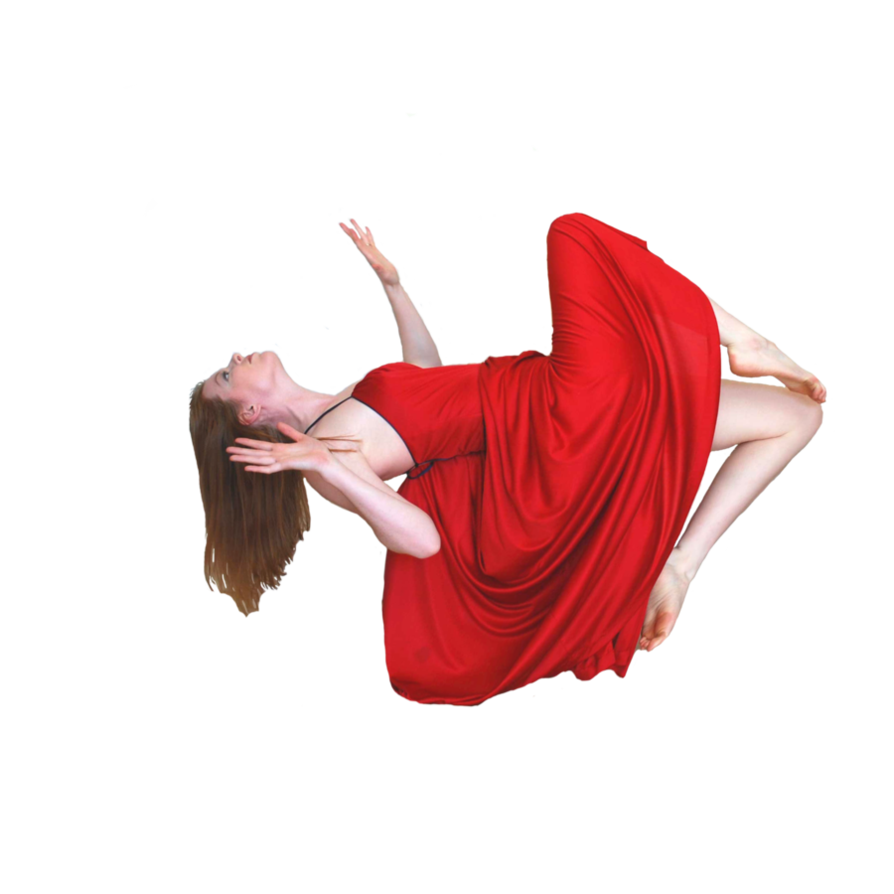 Girl falling png. Or flying stock cutout
