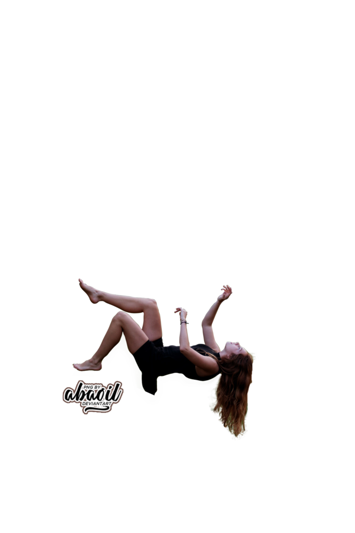 Girl falling png. By abagil on deviantart