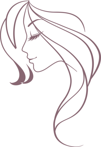 Girl hair outline png. A orig pinterest