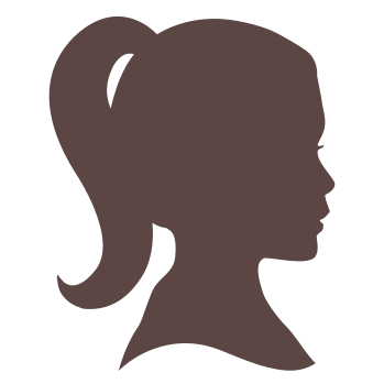 Girl head png. Silhouette woman transparent craftwell