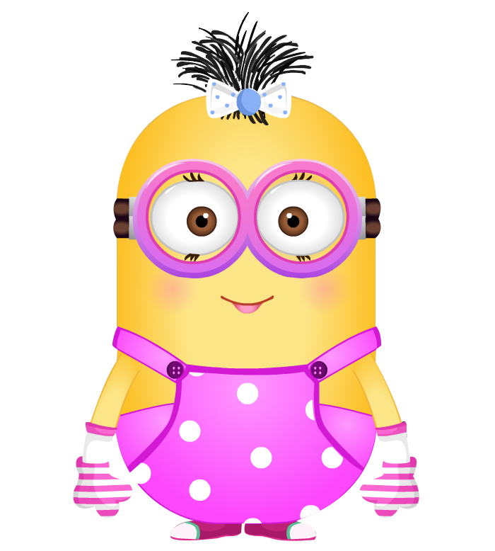 Girl minion png. Pink despicable me transprent