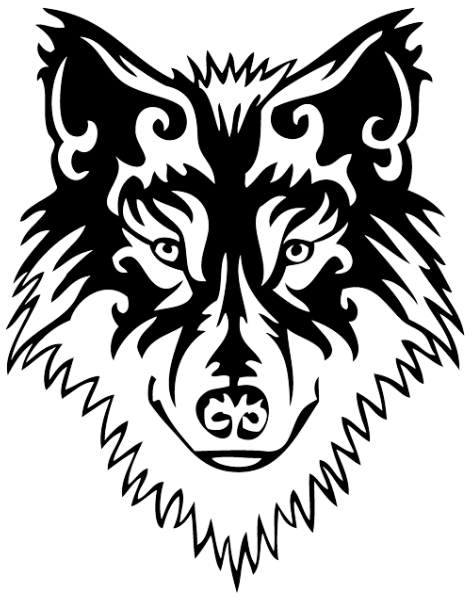 Tribal Wolf Transparent Png Clipart Free Download Ya Webdesign
