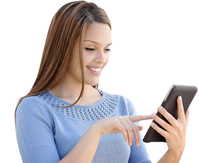 Girl on phone png. Colson center signup is
