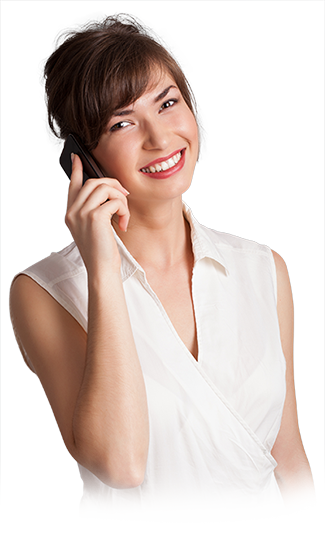 Girl on phone png. Contact bleachbright woman