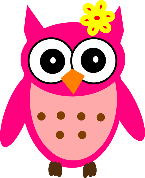 Girl owl png. Baby with bow clip