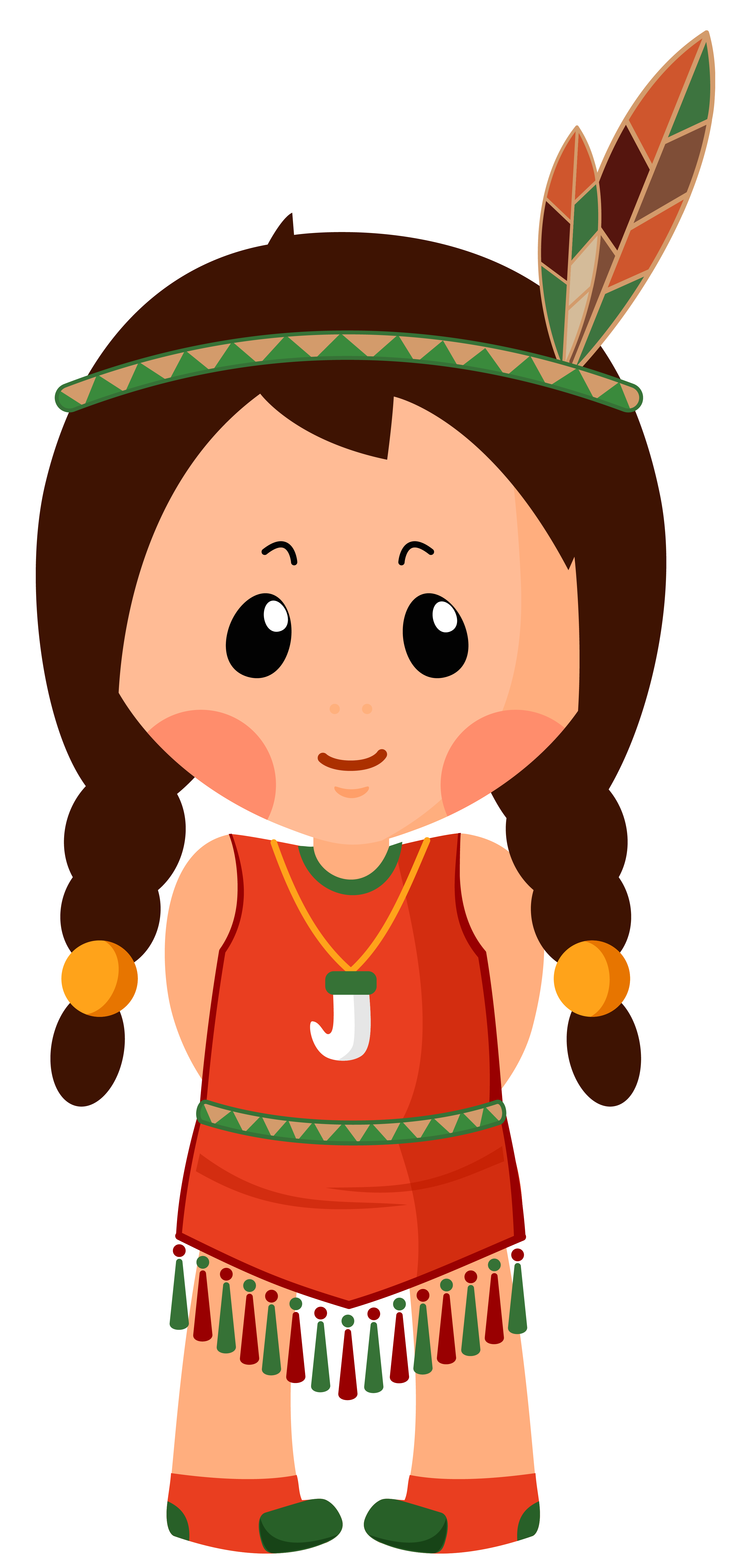 Girl png clipart. Native american clipar image