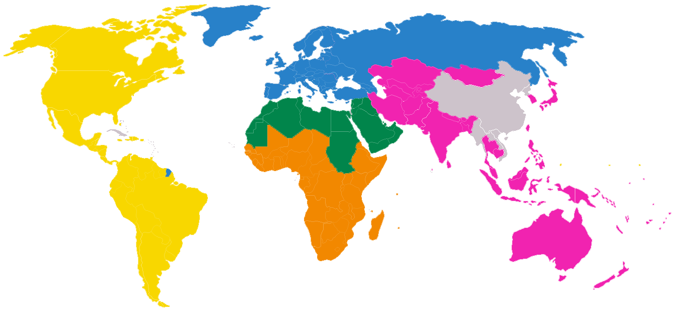 World map png image. File association of girl