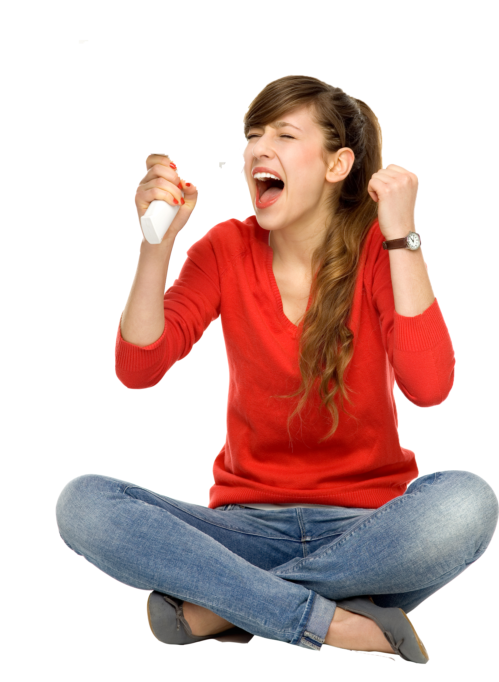 Girl screaming png. Student transprent free download