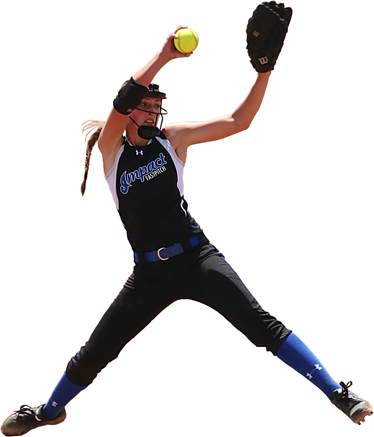 Softball player png. Home impact fast pitch