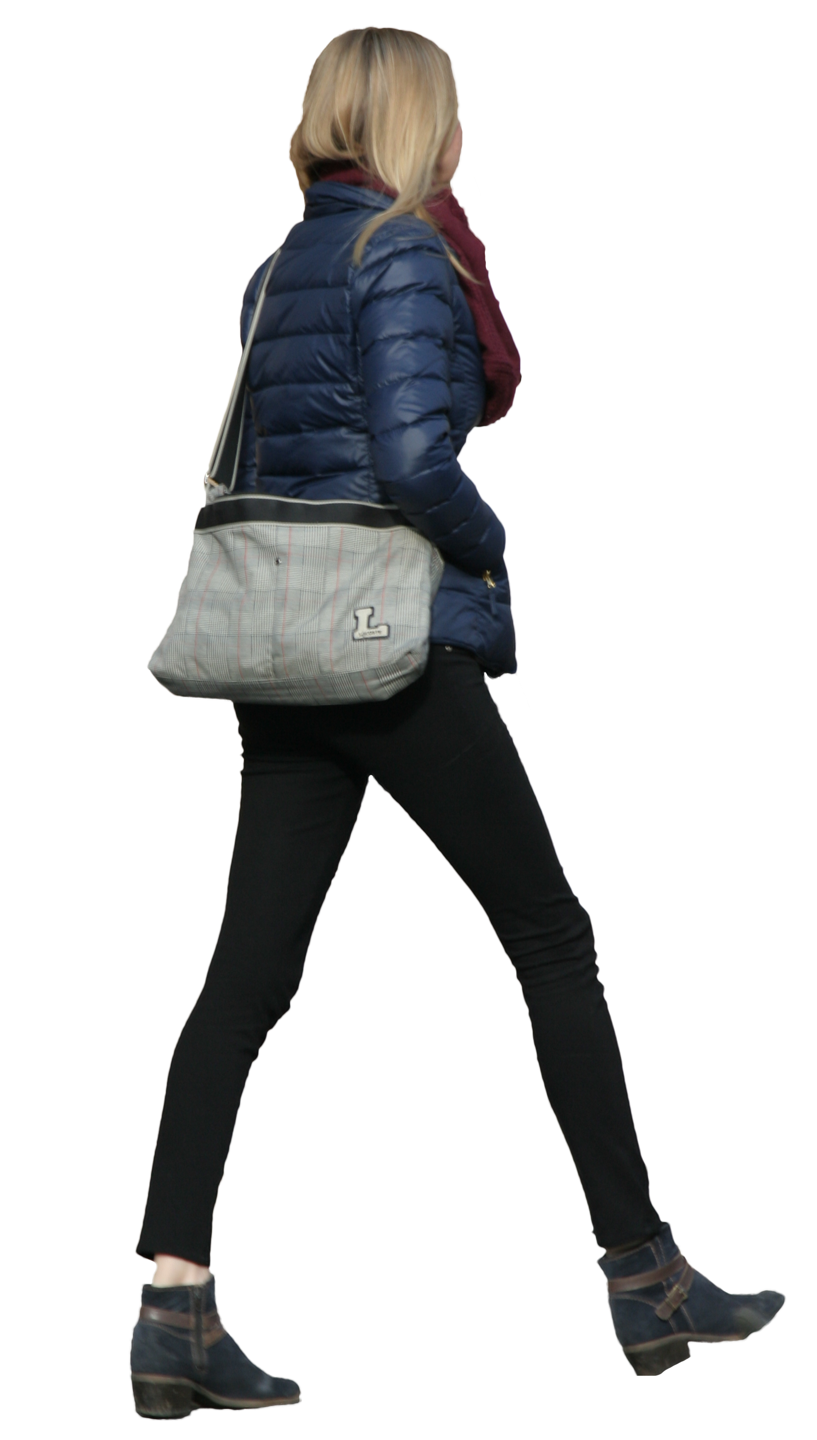 Girl walking png. Tall free cut out