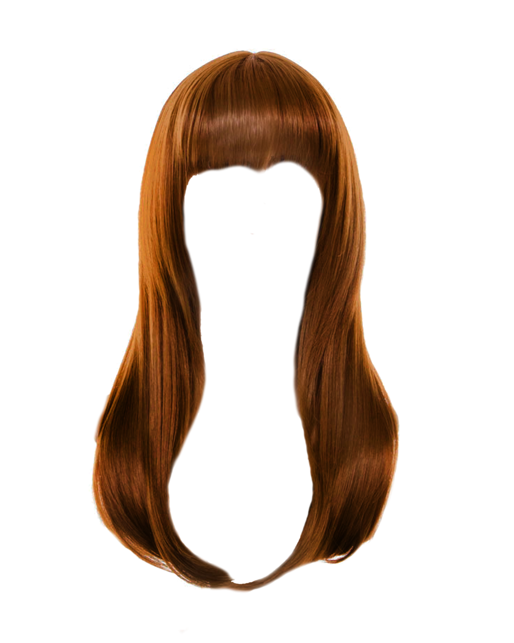 Wig vector doll. Women hair png image