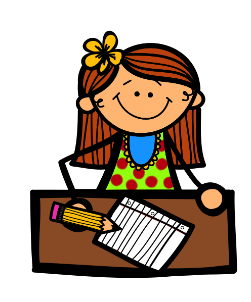 Girl writing png. Clipart