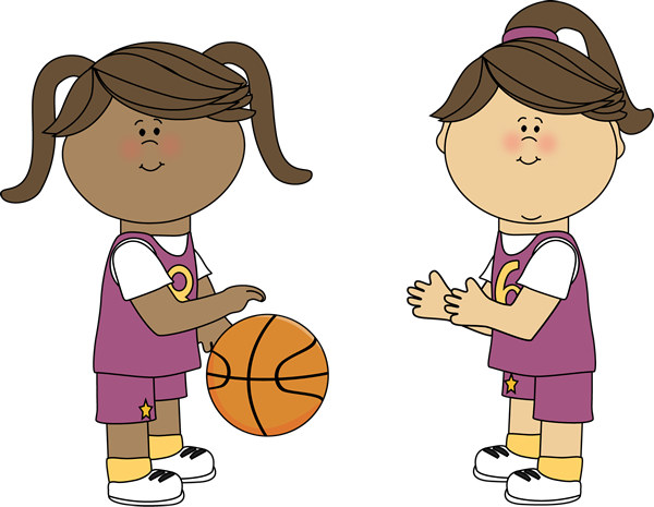 Sad clipart basketball. Girls playing
