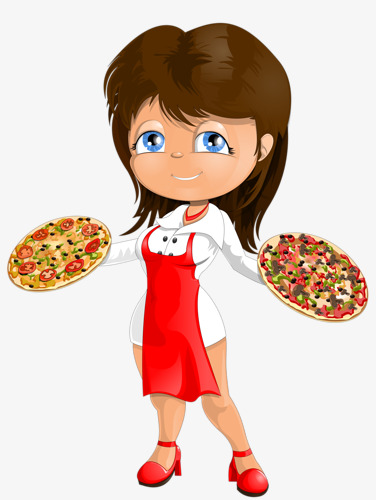 Girls clipart pizza. Take the girl hand