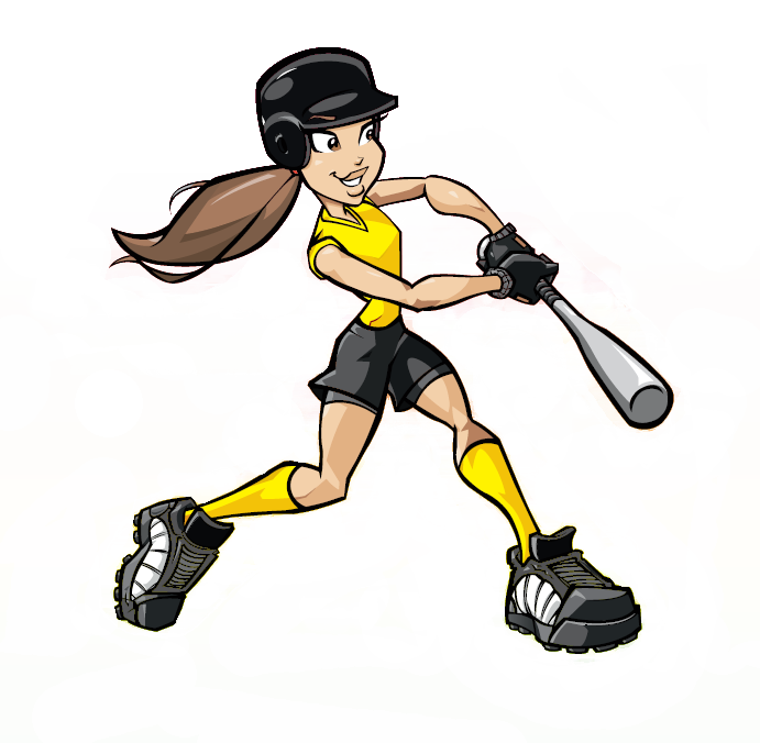 Girls softball png. Collection of clipart
