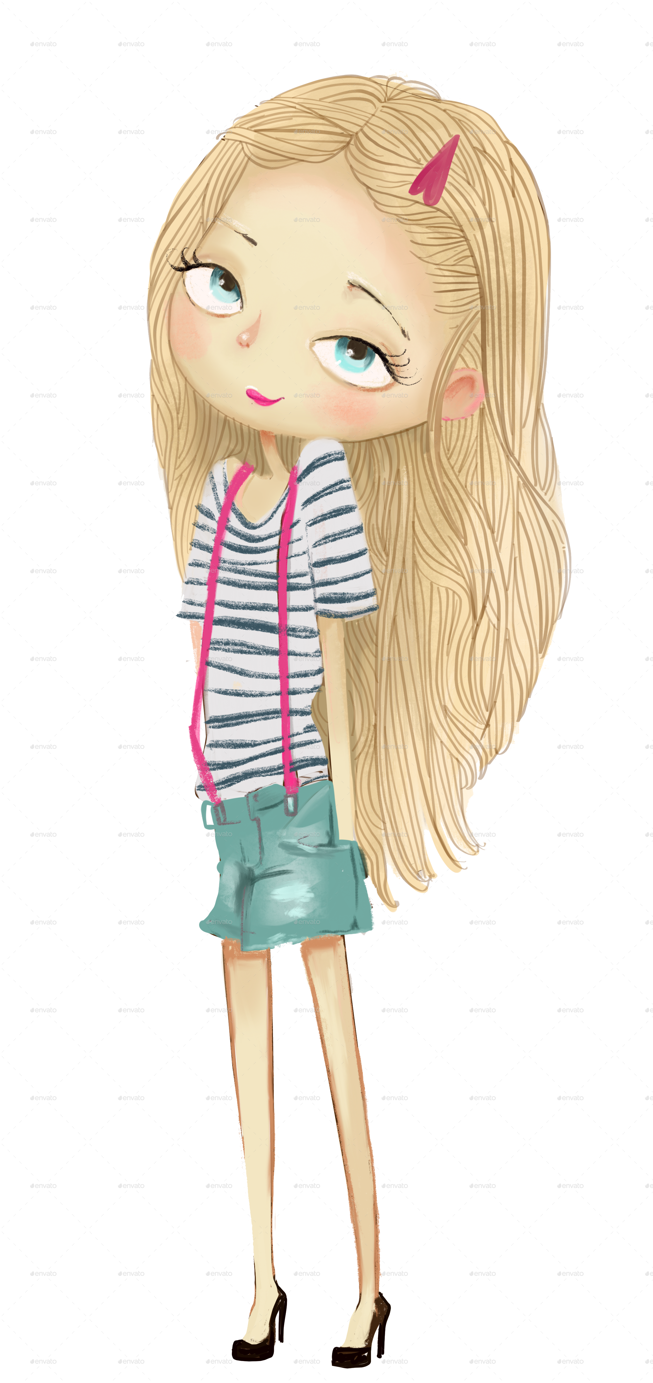 Collection with by cofeee. Girls transparent cartoon freeuse library
