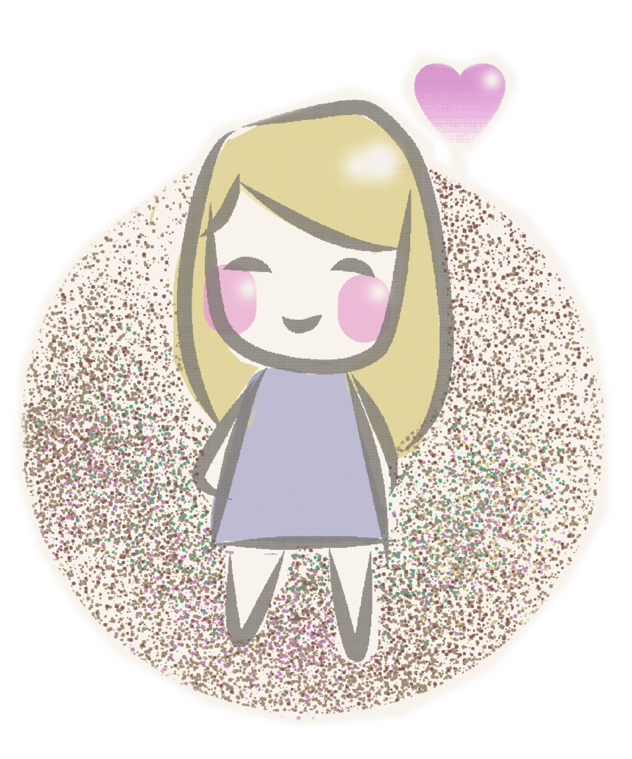 Girls transparent doodle. Girl by ametheee on