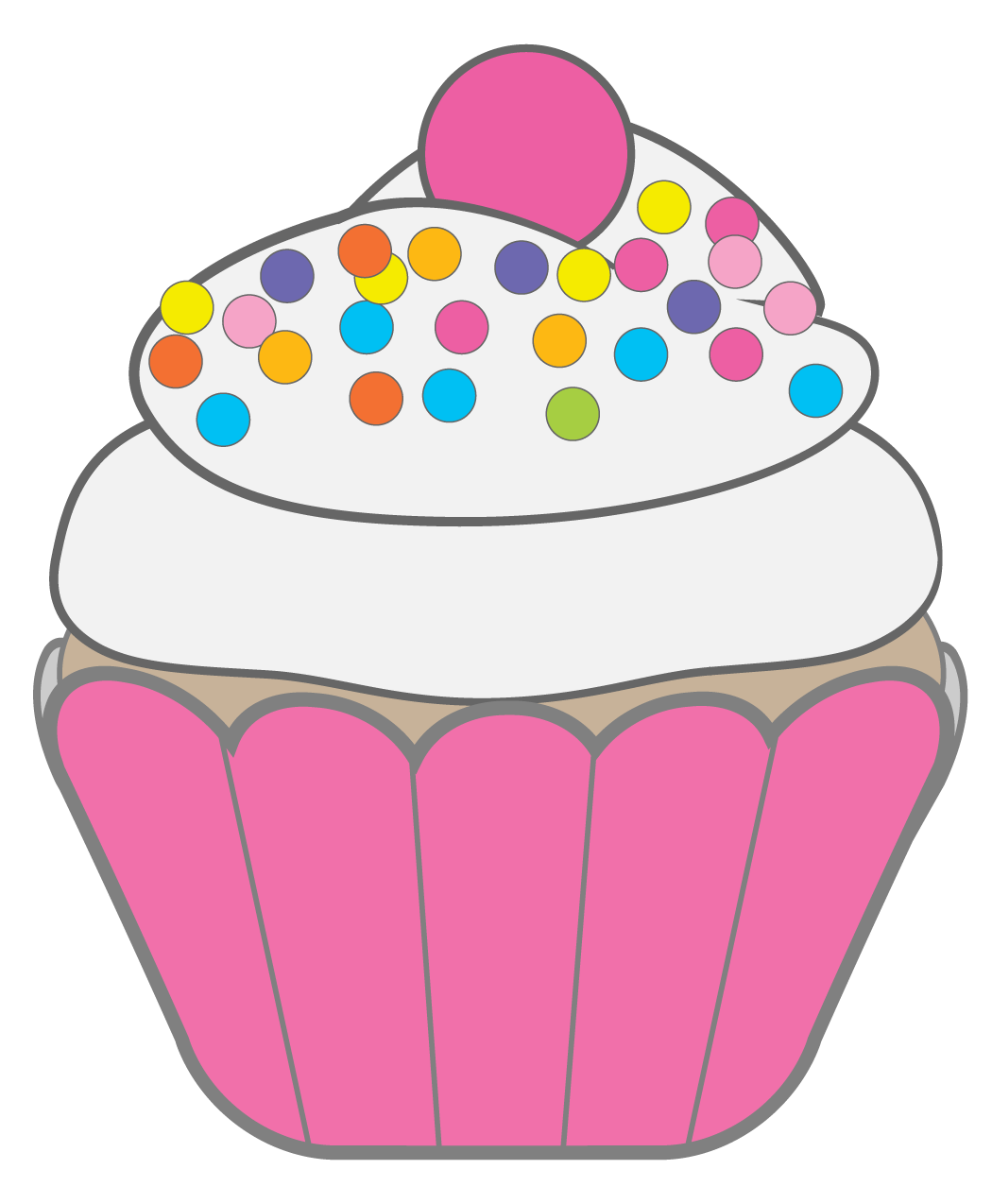 Happy birthday cupcake clip. Cake clipart image download