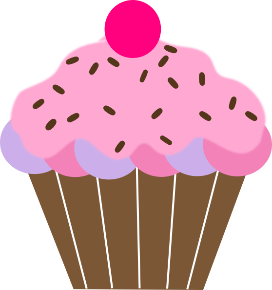 Girly clipart cupcake. Birthday at getdrawings com