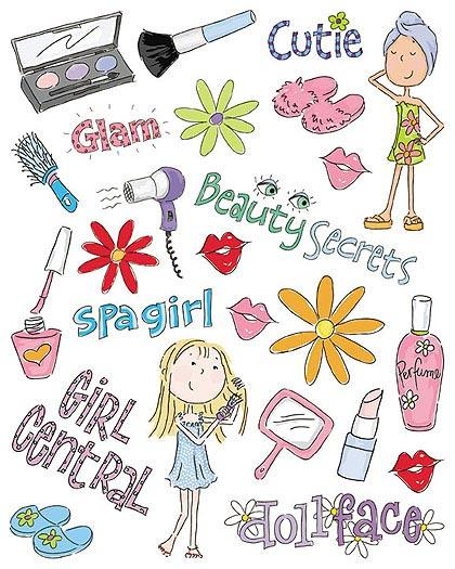 Girly clipart girly stuff. So wallpaper cutouts border