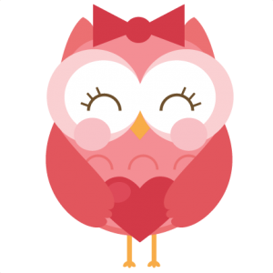 Owls clipart february. Free owl heart cliparts