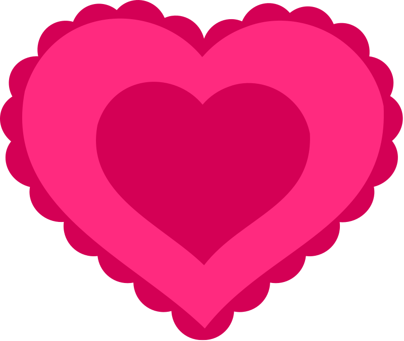 Valentine clipart heart. Free frilly girly cliparts