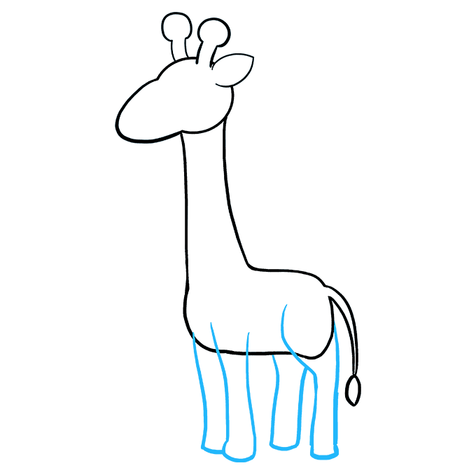 Girrafe drawing full body. How to draw a