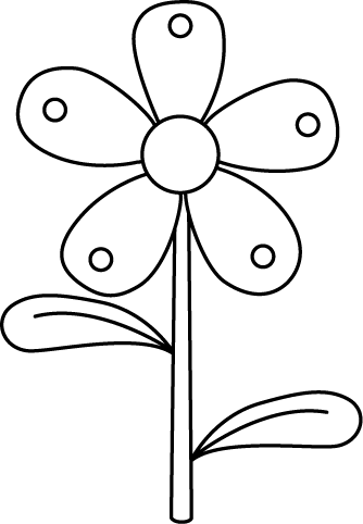 Stem drawing coloring. Black and white garden