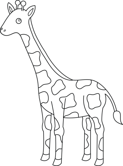 Girrafe drawing outline. Cute giraffe at getdrawings
