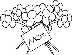 Mothers clipart coloring. Happy mother s day