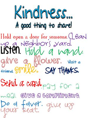 Give clipart kindness. Best acts of