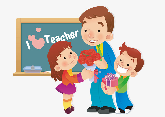 Give clipart teacher gift. Students gifts to teachers