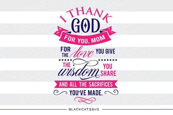 Give clipart thanks mom. Thank you svg file
